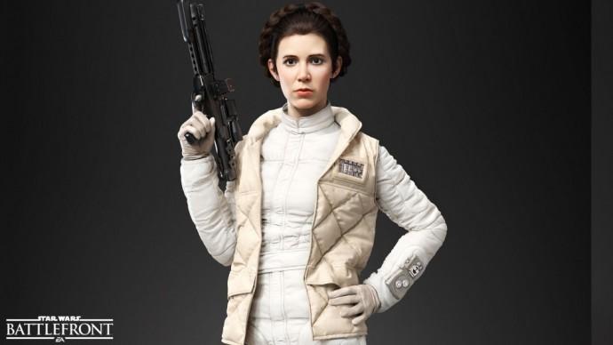 Leia dans Star Wars Battlefront
