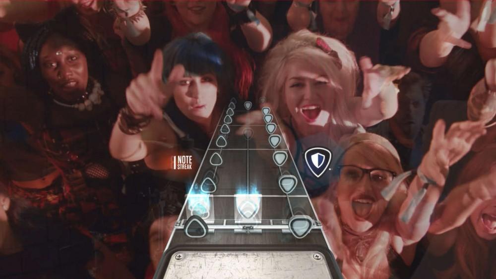 Un concert en temps réel dans Guitar Hero Live