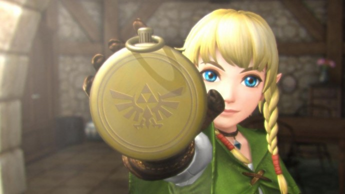 Linkle et sa boussole dans Hyrule Warriors: Legends