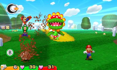 Mario & Luigi Paper Jam Bros esquive Flora