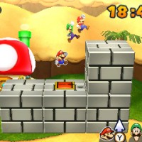 Mario & Luigi Paper Jam Bros sauvetage Toad