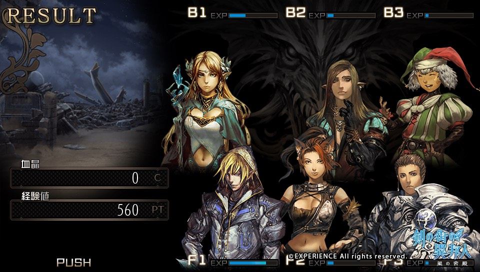 Personnages de Stranger of Sword City
