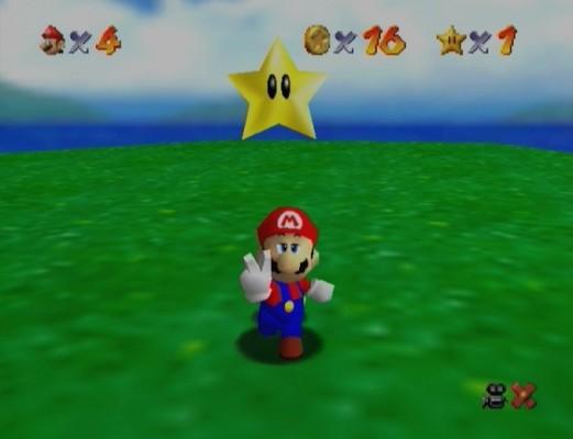 Super Mario 64 étoile