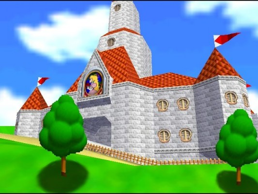 Super Mario 64 chateau de Peach