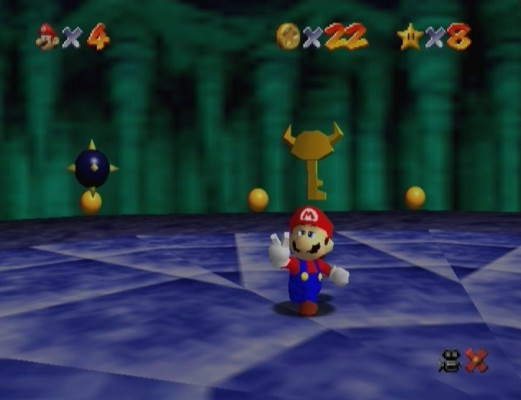 Super Mario 64 clé Bowser