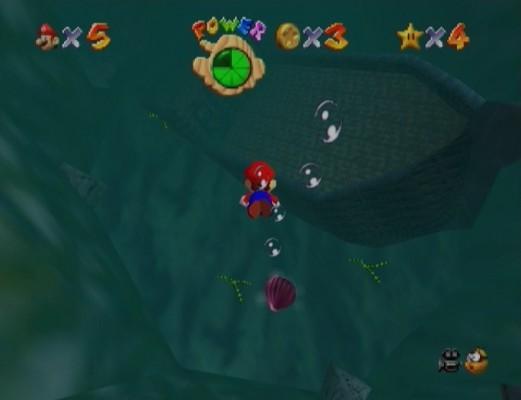 Super Mario 64 sous l'eau