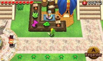 The Legend of Zelda - Tri Force Heroes marchand de rue