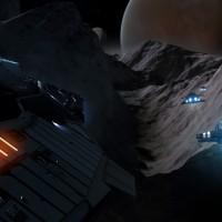 Course poursuite dans les reliefs de Elite Dangerous: Horizons