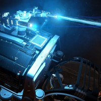 Un rayon laser émane du véhicule dans Elite Dangerous: Horizons