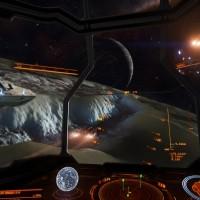 Les vaisseaux manoeuvrent dans les tranchées dans Elite Dangerous: Horizons