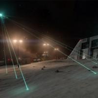Les lasers du vaisseau font des recherches dans Elite Dangerous: Horizons
