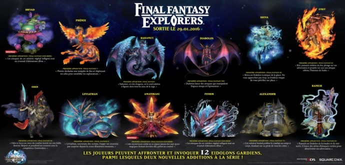 Fnal Fantasy Explorers Eidolons