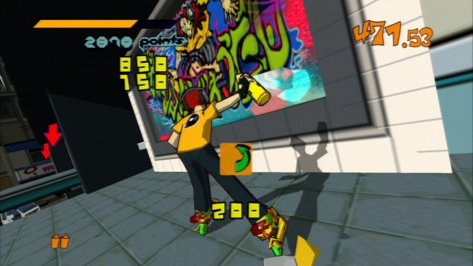 Jet Set Radio graffiti