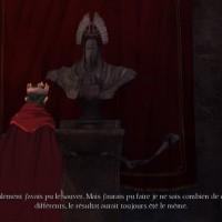 King's Quest - Episode 2 roi Graham devant buste Achaka