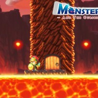 Monster Boy and the Cursed Kingdom Monster Boy en Lion avec armure sur une plateforme dans la lave