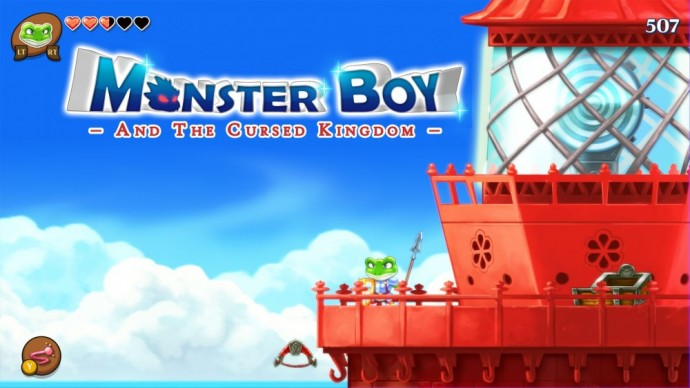 Monster Boy and the Cursed Kingdom Monster Boy en grenouille en haut d'un phare