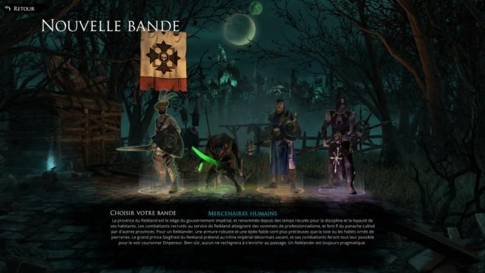 Test Mordheim City of the Damned - Ecran de selection de bande - LightninGamer