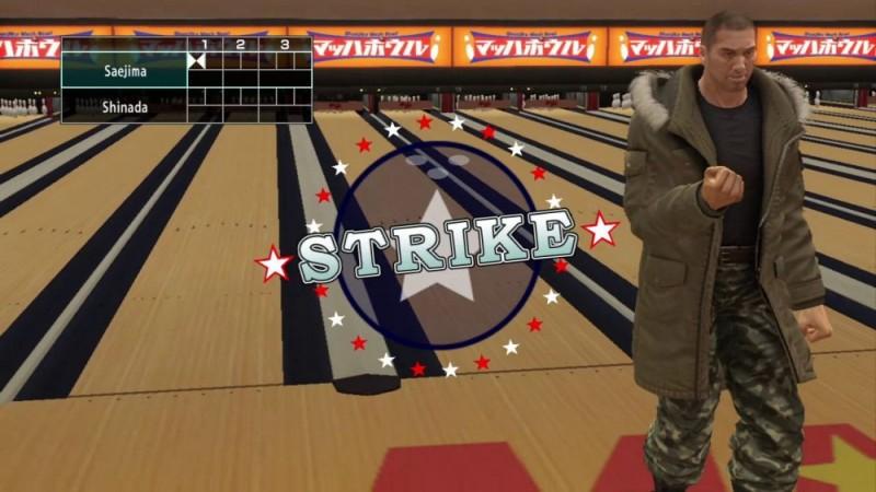 Yakuza 5 Strrike au bowling