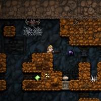 Le héro explore le niveau dans Spelunky