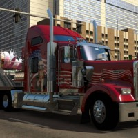 Camion rouge dans American Truck Simulator