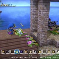 Dragon Quest Builders héros construit une tour en bois