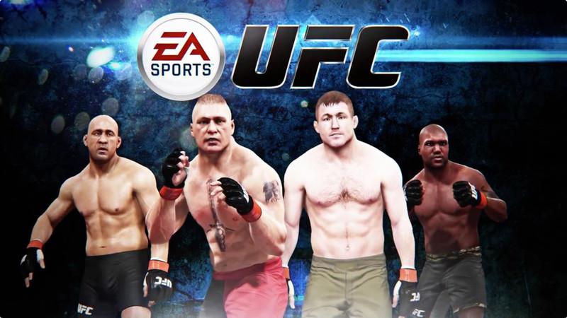 Quatre personnages du jeu EA Sports UFC 2