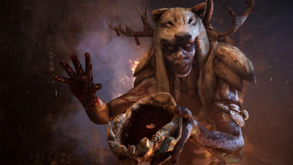 Far Cry Primal prêtre tend potion