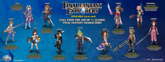 Final Fantasy Explorers Héros