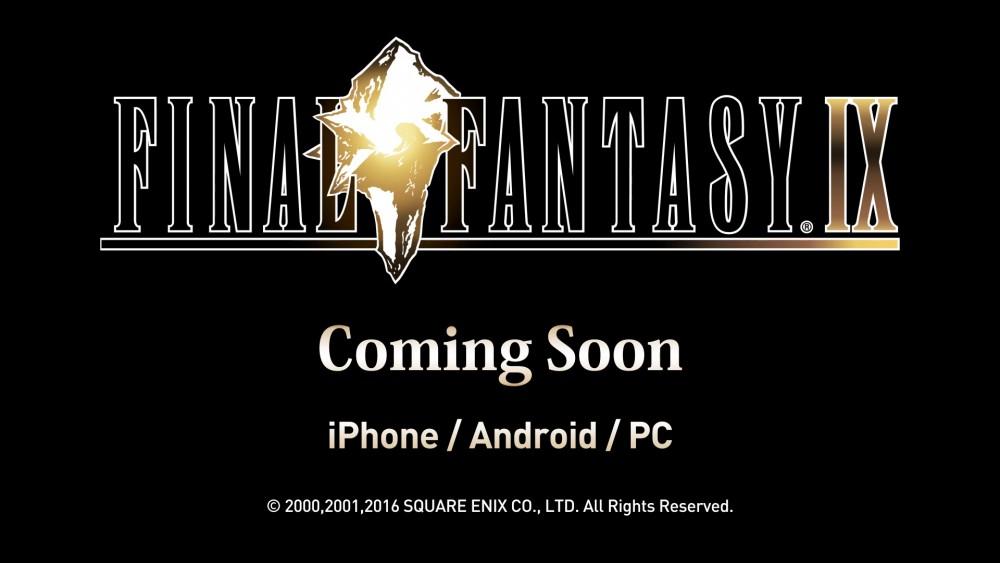 Final Fantasy IX logo et annonce teasing