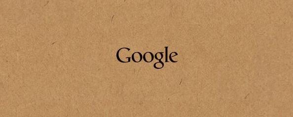 Logo Google sur carton