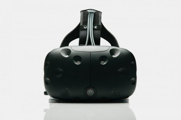 Le HTC Vive Pre vu de face