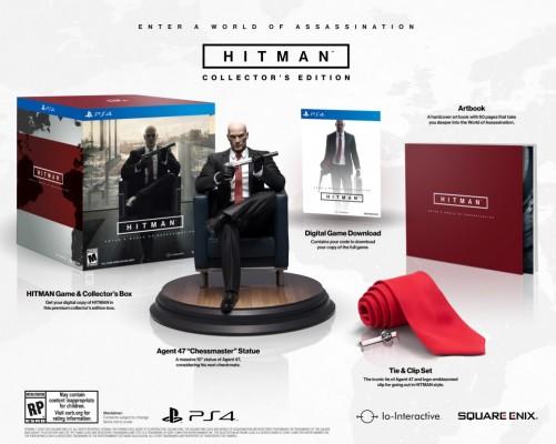 Hitman édition collector avec figurine artbook jeu à télécharger et cravate