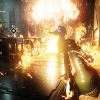 Homefront The Revolution ennemi en train de brûler