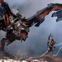 Aloy combattant un robot dans Hoziron: Zero Dawn