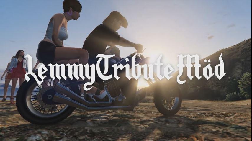 Lemmy sur sa moto GTA V