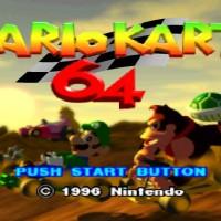 L'écran titre de Mario Kart 64