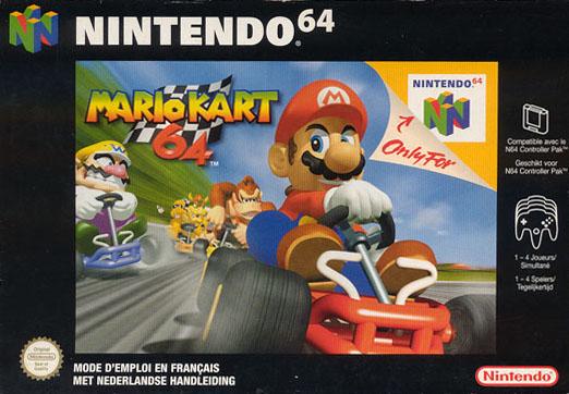 Jaquette officielle française de Mario Kart 64