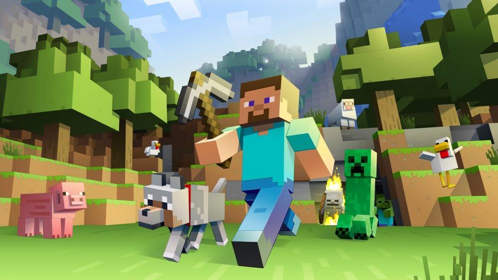 Joueur de Minecraft en train de marcher