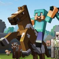 Joueur de Minecraft en pleine chevauchée