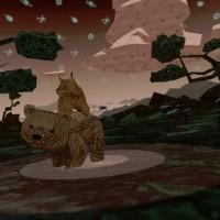 Une amitié entre un ourson et un lynx