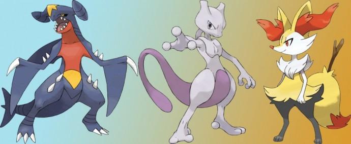 Pokémon Carchacrok, Mewtwo et Roussil