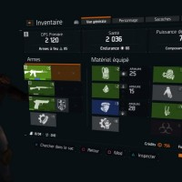 Tom Clancy's The Division l'équipement