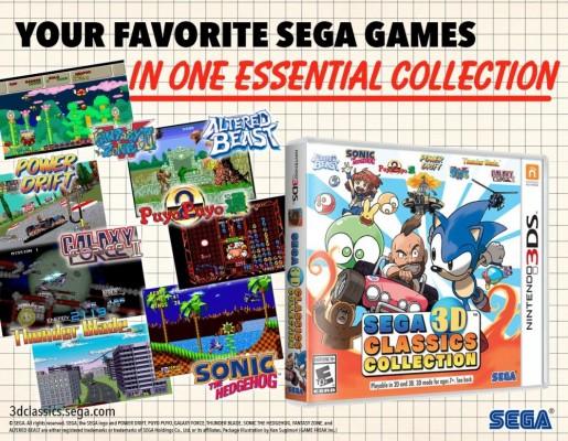 SEGA 3D Classics Collection boite du jeu plus images de certains titres