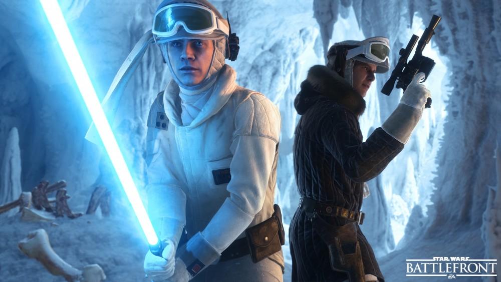 Deux personnage du jeu Star Wars Battlefront