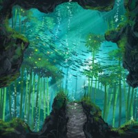 Song of the Deep forêt sous marine concept art