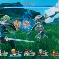 Star Ocean: Integrity and Faithlessness combat comprenant toute l'équipe