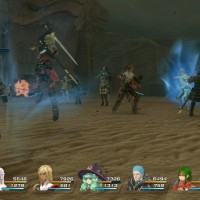 Star Ocean: Integrity and Faithlessness combat contre de multiples gardes