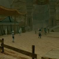 Star Ocean: Integrity and Faithlessness ville du désert avec habitants
