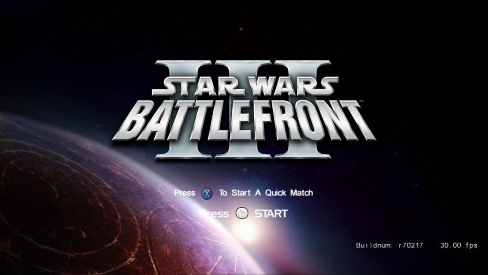 Star Wars Battlefront III écran titre prototype