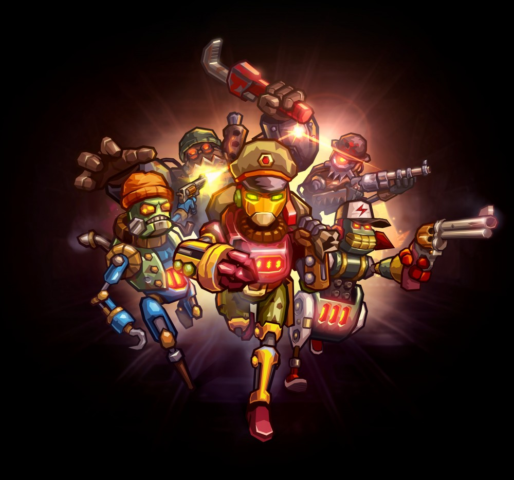 Piper et son gang dans SteamWorld Heist
